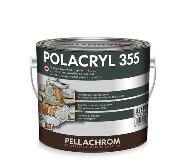 Pellachrom-Polacryl-355 άχρωμο ακρυλικό βερνίκι πέτρας