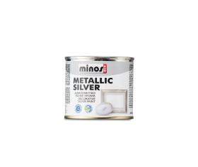 minos metallic silver diakosmitiko metalliko xroma 180ml